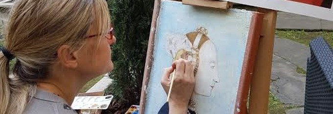 New tour of Arezzo with fresco painting workshop