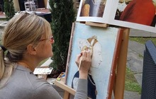 Tour of Arezzo with lunch and wine tasting in a winery and fresco painting workshop